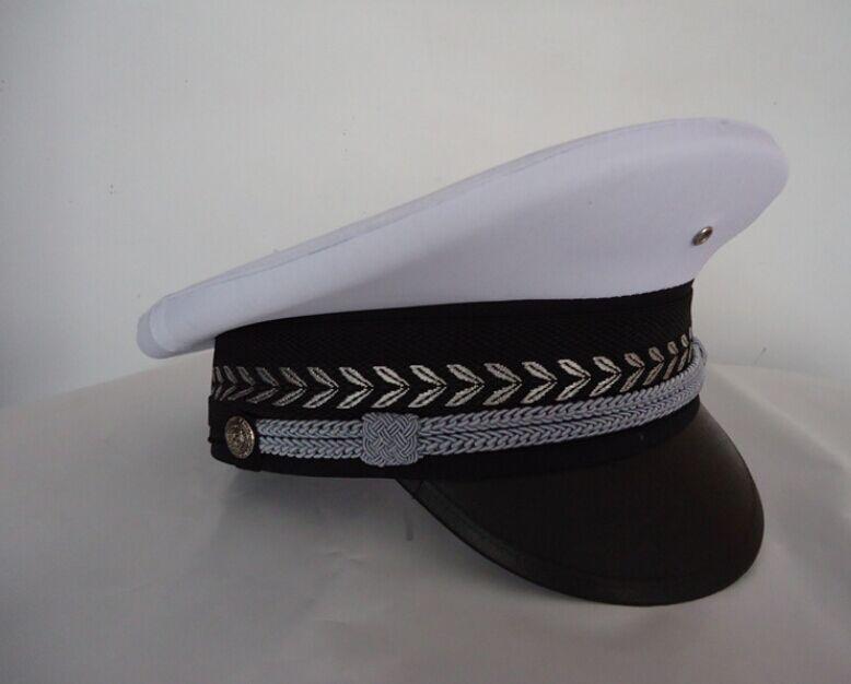 白色便警帽